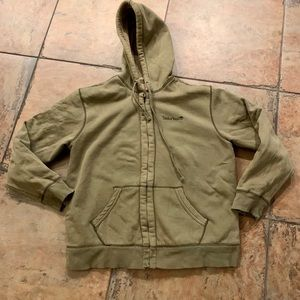 Timberland Sherpa lived heavy olive green hoodie